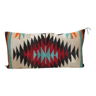 Fantastic Navajo Indian Weaving Bolster Pillow