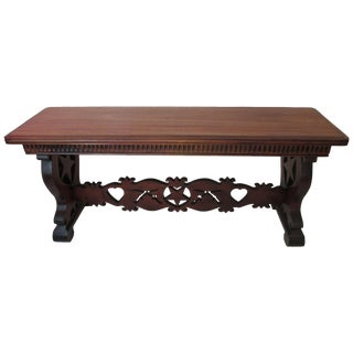 Antique Console Table With Mystical Motifs