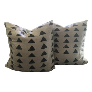 Mali Triangle Mudcloth Pillows - A Pair