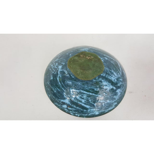 Image of Mid-Century Copper and Enamel Bowl