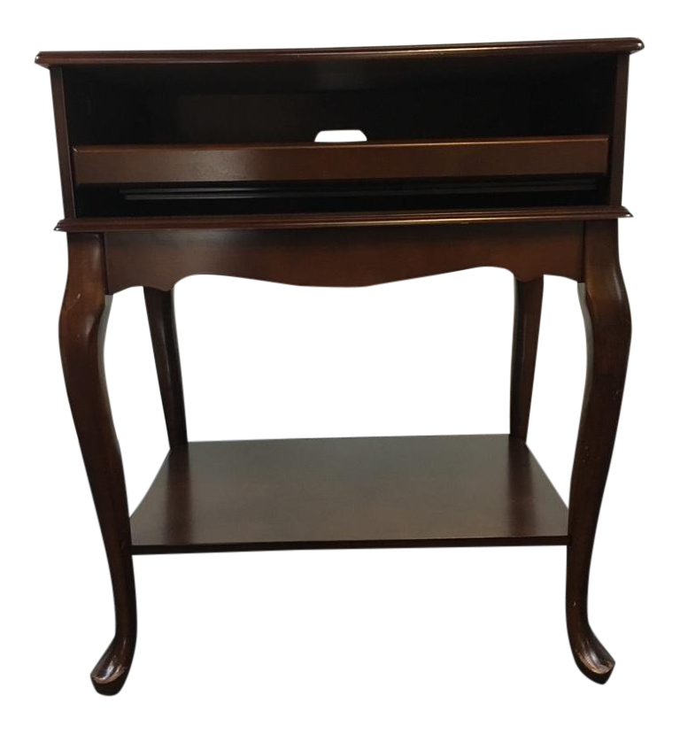 Contemporary Queen Anne Style Side Table
