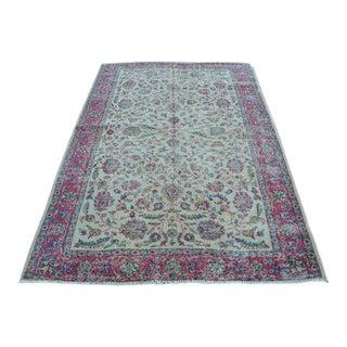 Floral Floor Handmade Carpet - 5′1″ × 7′5″
