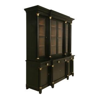 French Empire Style Bookcase with an Ebonized Magohany Finish