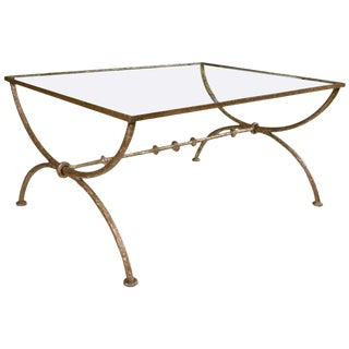 Diego Giacometti Style Wrought Iron Coffee or Low Table