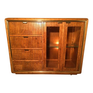 American of Martinsville Lighted Bar Cabinet