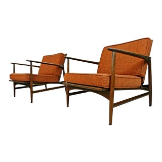 Ib Kofod Larsen for Selig Lounge Chairs - A Pair