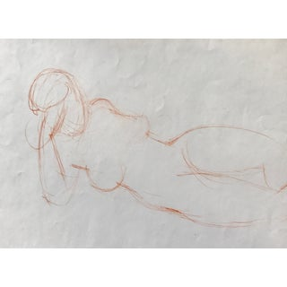 Vintage Conte Crayon Nude Figure Study