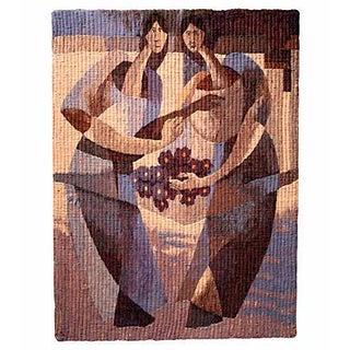 Woven Wool Absract Wall Textile Art