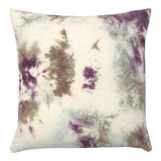 Tan & Purple Dyed Throw Pillow