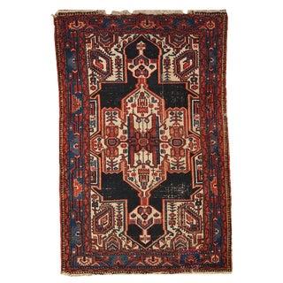1920s Hand Made Antique Persian Hamadan Rug - 3′10″ × 5′10″