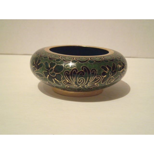 Emerald Green Cloisonne Footed Bowl - Image 4 of 8