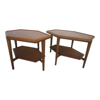 Drexel Mid-Century Surfboard Side Tables - Pair