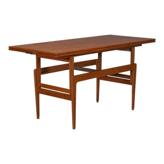 Danish Modern Teak Adjustable Coffee & Dining Table