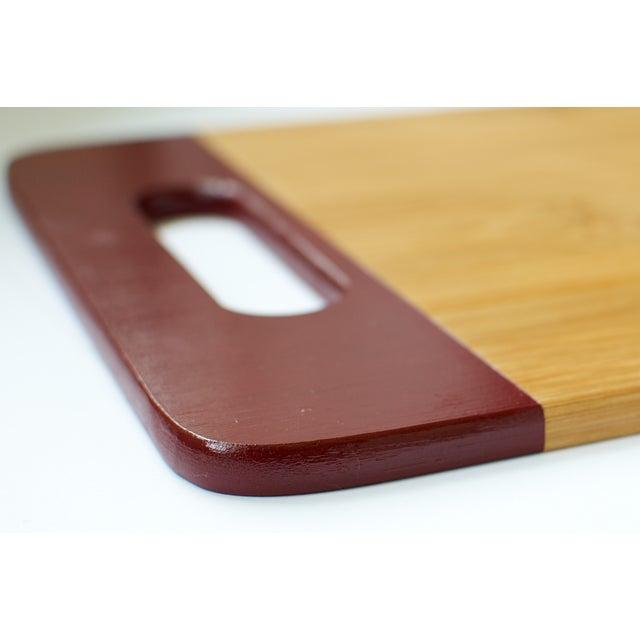 Maroon Bamboo Cutting Board - Image 3 of 3