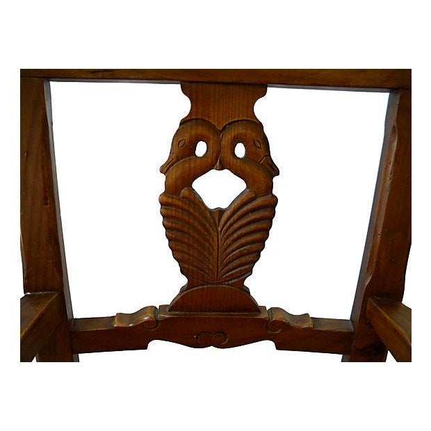 Carved-Back Swan Chair - Pair - Image 5 of 6