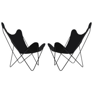 Knoll Hardoy Bfk Butterfly Chairs - Pair