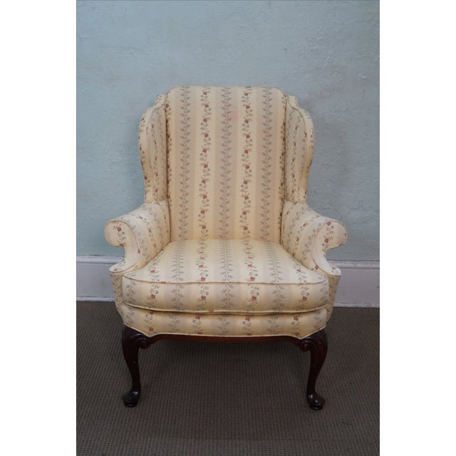 Queen Anne Style 18th Century Wing Chair - Image 2 of 10