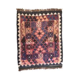 "Vintage Small Kilim Rug or Wall Hanging, 2'3""x3'2"""
