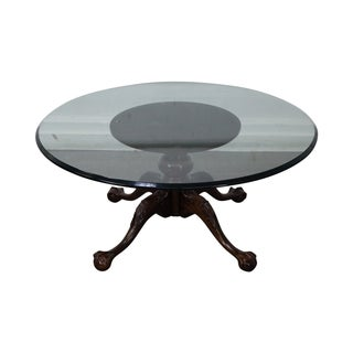 Solid Mahogany Chippendale Claw Foot Coffee Table