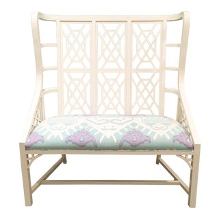 Taylor Burke Home Kings Grant Bench With Quadrille Fabric