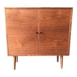 Custom Mid Century Style Walnut Cabinet
