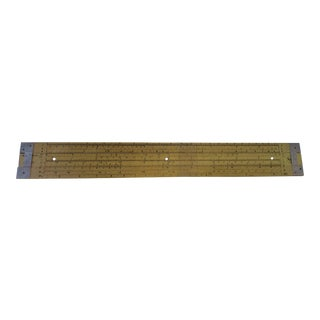 Yellow 7 Foot Huge Pickett Teachers Slide Rule