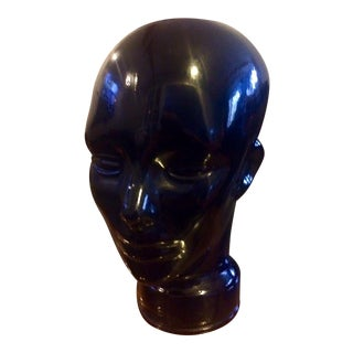 Vintage Modern European Art Glass Mannequin Head