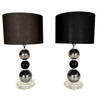 Italian Murano Table Lamps - Pair