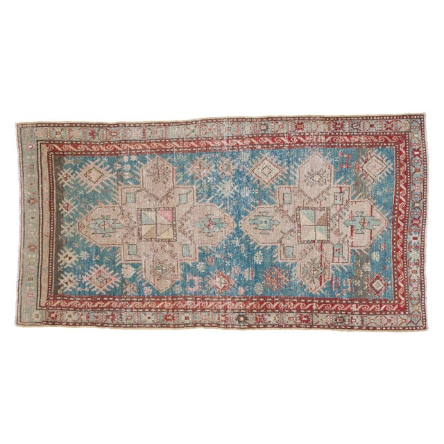 "Vintage Anatolian Caucasian Rug- 3'4"" x 6'3"" - Image 1 of 5"