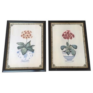 "Primrose ""Print Room"" Plaques - A Pair"