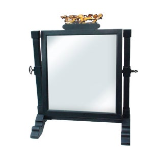 19th C. Japanese Lacquered Shaving Mirror