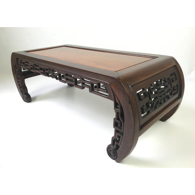 Antique Chinese Carved Rosewood Kang Coffee Table