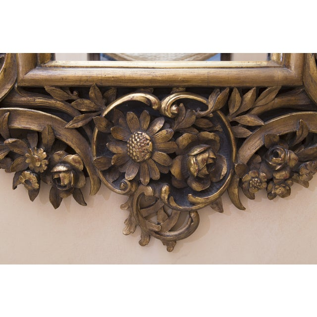 Carved Wood Mirror With Gilt Finish - Image 6 of 8