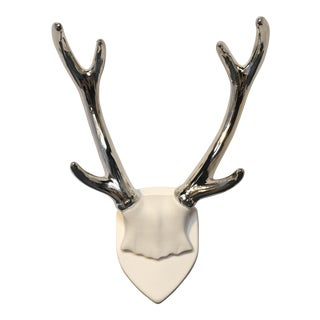 Chrome Plated Mounted Antlers