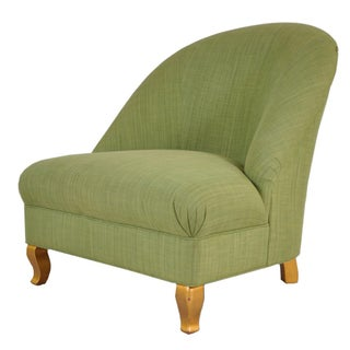 Kravet Carlisle Tight Back Green Chair