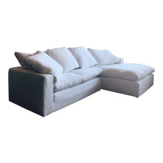 Restoration Hardware Cloud Track Arm Slipcovered Right-Arm Chaise Sectional