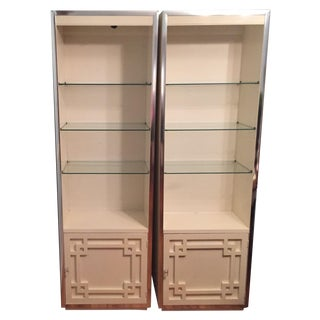 Thomasville Mid-Century Fretwork Cabinets - A Pair