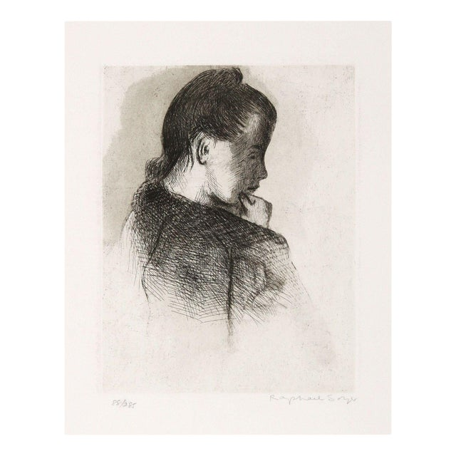 Image of Raphael Soyer Etching - Portrait of a Girl