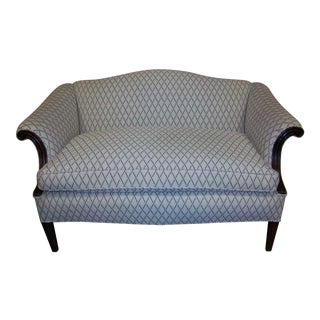 Reupholstered Antique Settee Loveseat