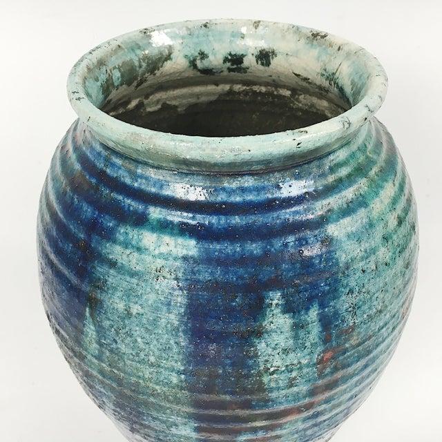 Vintage California Modern Style Drip Glaze Vase - Image 5 of 8