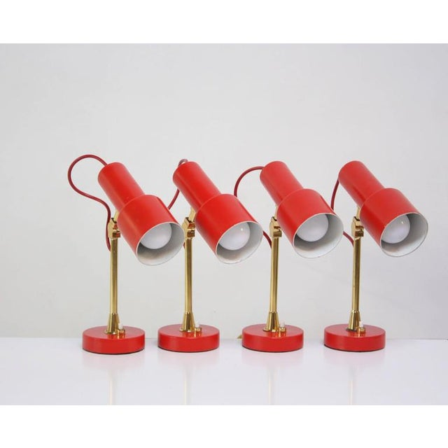 Pair of Mid-Century Italian Modern Petite Table Lamps / Sconces by Stilux - Image 2 of 11