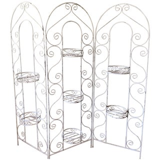 Ornate Iron Planter Screen