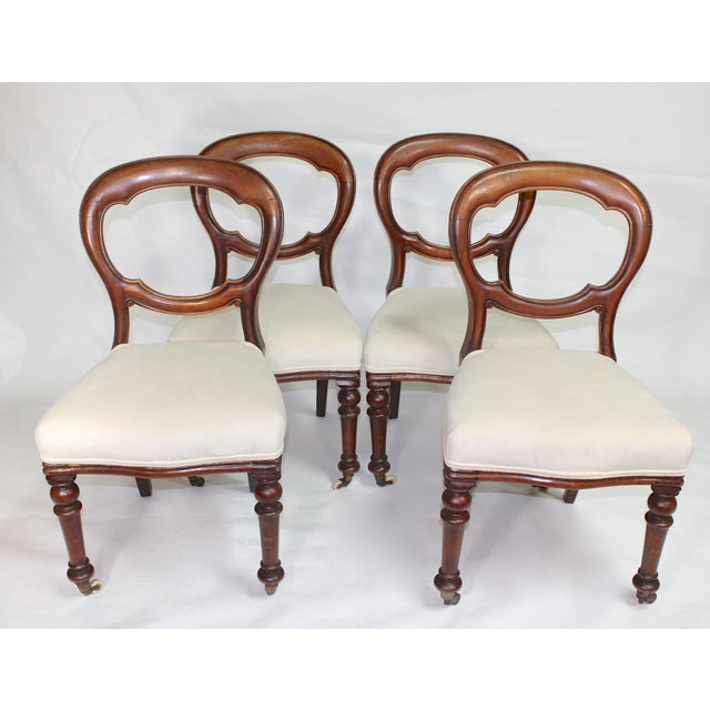 Image of Antique Mahogany Dining Chairs - Set of 4