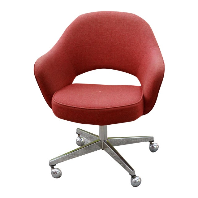 Saarinen Red Executive Office Desk Chair Chairish