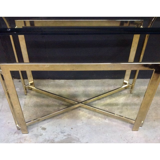 DIA Style Brass Console Table - Image 5 of 7