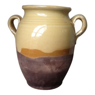 Italian Ceramic Olive Jar