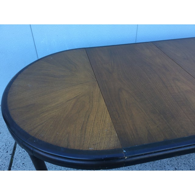 Image of 1960's Dunbar Dining Table With Two Leaves