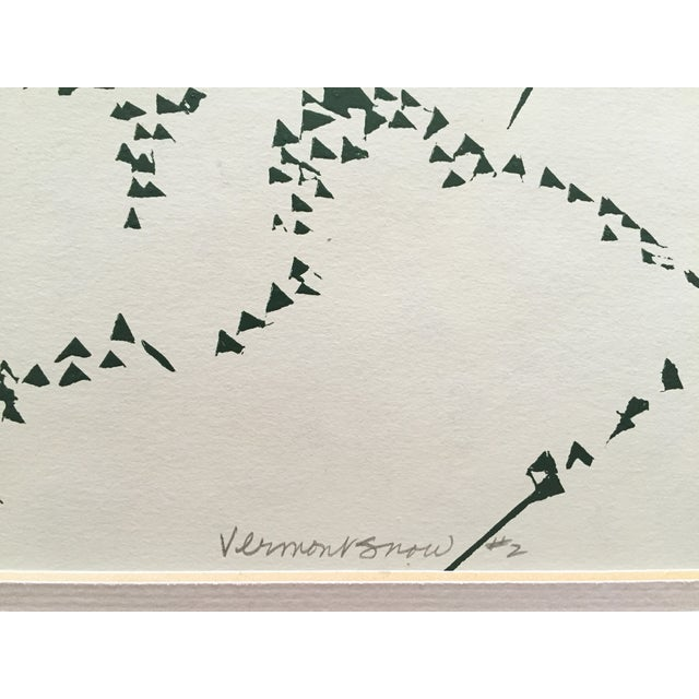 """Vermont Snow"" Serigraph by Nancy Klotzle - Image 5 of 6"