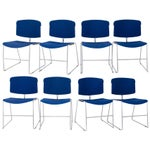 Image of Steelcase Max Stacker Chairs, S/8