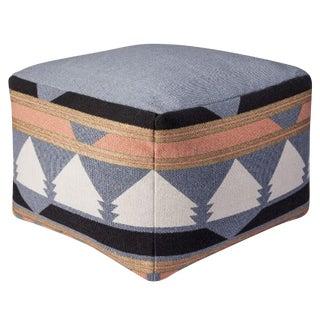 Geometric print pouf